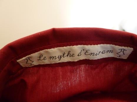 """Petit zoom sur mon étiquette """"Le mythe d'Eniram"""""""